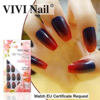 Vivi Nails 2017 Korea Design False Coffin Nail Tips For Salon