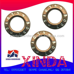 20mm Brass Eyelet, Sank Logo, Plated, Customized Sizes/Colors Accepted, OEM/ODM Orders Welcomed