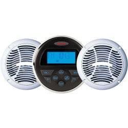 JENSEN CPM150 AM/FM/USB Bluetooth Stereo & Speakers Package w/MS30BT & AMS602W Speakers