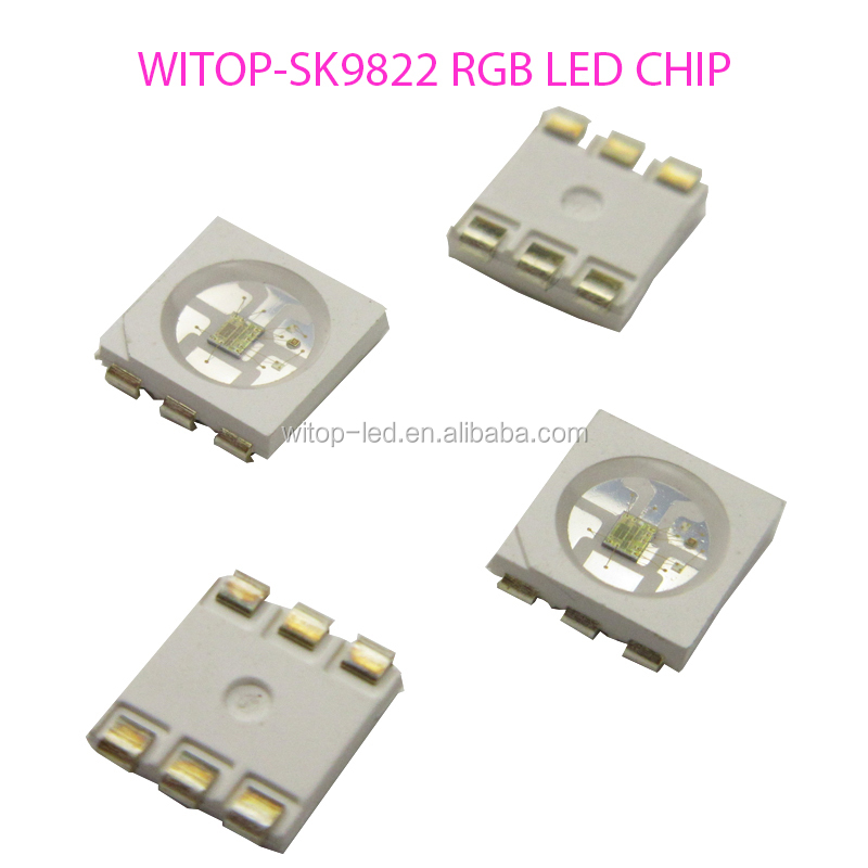High quality double data smart rgb/white/warm white led chip SK9822 vs APA102c