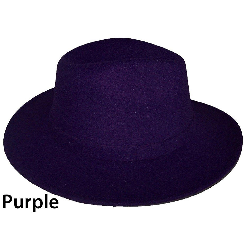 2cc809d75cb Get Quotations · Felt Hats Fedora Trilby Hats Men Hats Women Hats 9 Color  Choice (Felthat1 Z)