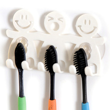 Free shipping bathroom sets cute Cartoon sucker Cute Smiling Face Toothbrush Holder Cartoon Toothbrush Stand