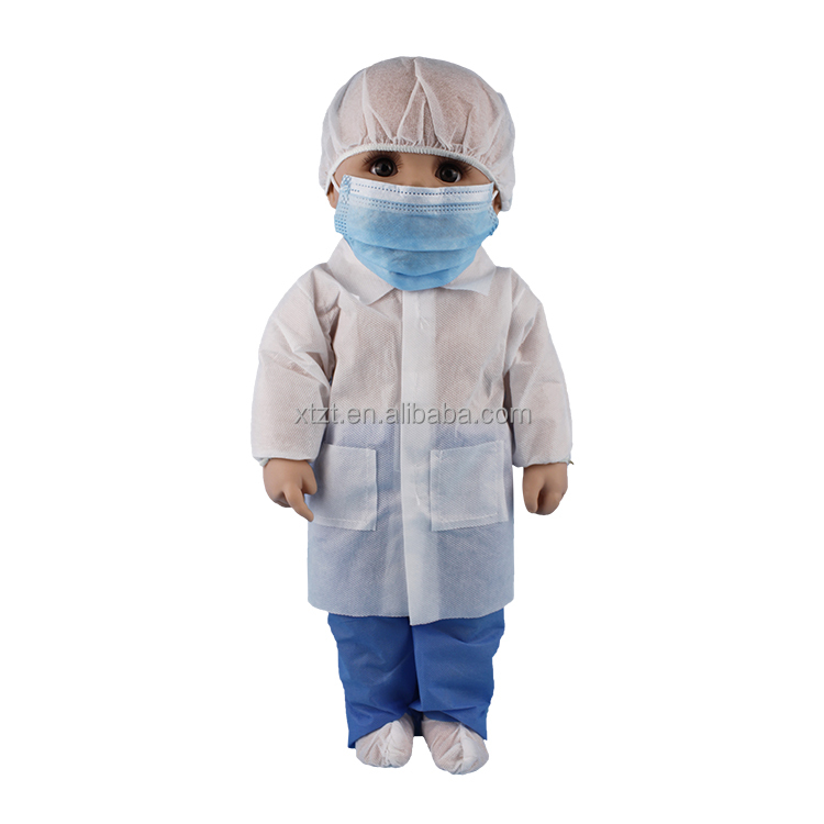 Non Woven Disposable Lab Coat For Kids