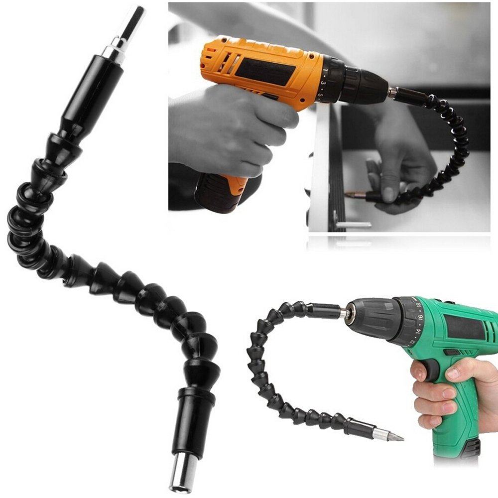 Gilroy Flexible Shaft Drill Bit Extension,1/4 Inch Hex Drive,Power Tools Screwdriver Set Extenders