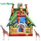 Giraffe customized high quality inflatable trampoline bouncy castle slide inflatable slide the city