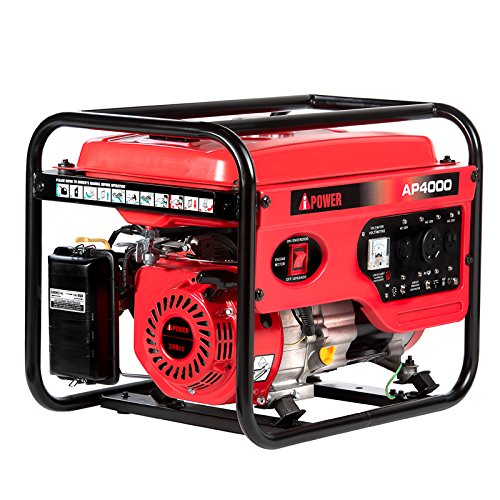A-iPower 4,000-Watt Gasoline Powered Manual Start Generator