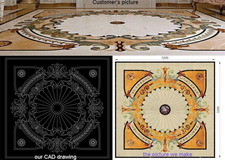 Classic Medallion Flower Waterjet Marble Tiles Design Floor Patterns - Buy  Flower Marble Floor Design,Hotel Lobby Marble Flooring Design,Marble Floor