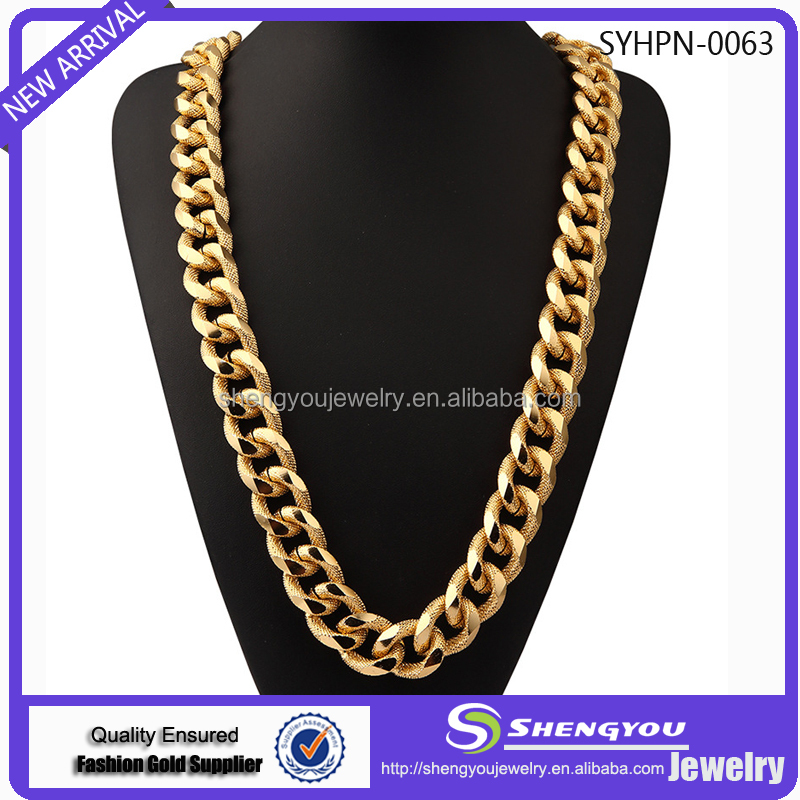 High Quality Cheapest Price Men's Jewelry Gold And Sliver Colors Thick Necklace For Sale