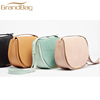 top grain genuine cow leather handbag women nude clear suede leather bag