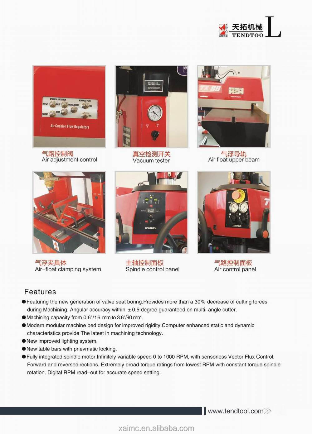 High quality Valve Seat Boring Machine TX90 with cheap price