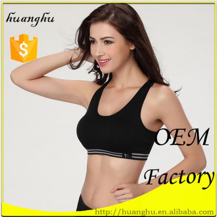 Fashion design breathable wholesale china wire free molded cup x-back sports bra