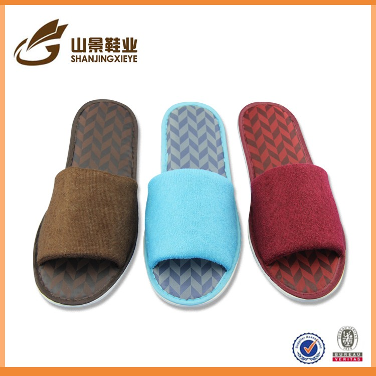 Chinese eva sole slipper shoe for men terry comfort floor shoe