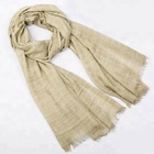 Cotton Polyester Plaid Dirty Dyed Pashmina Warp Scarf