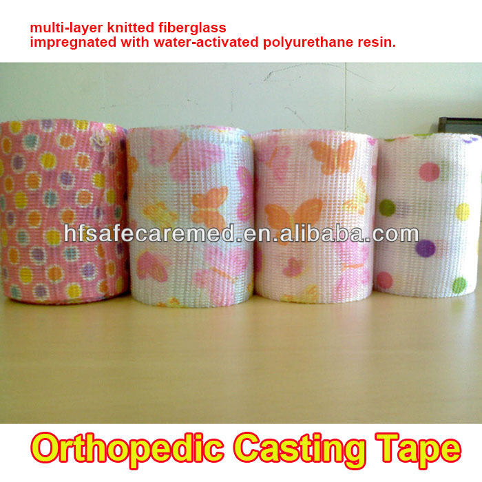 Camouflage Orthopedic polyester fiberglass Casting Tape