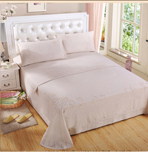 2018 New Design Cotton Embroidered Bedding Set Hand Embroidery Bed Sheet