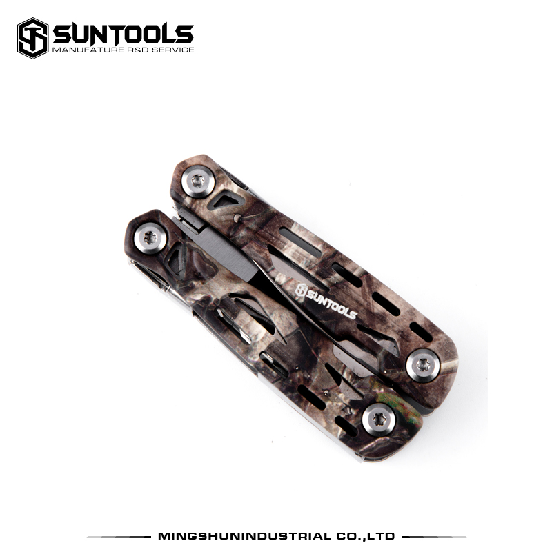 Suntools Outdoor 11 in 1 functional folding mini pliers