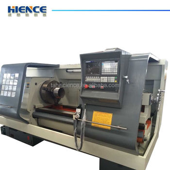 Horizontal cheap metal turning cnc pipe threading lathe machine for sale CQK350
