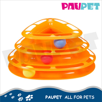Plastic new design hot selling popular interactive tower tracks cat ball cat playing toys