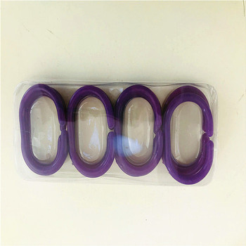 Plastic C Rings Shape Shower Curtain Rings Hooks
