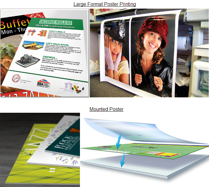 custom poster board sign mounted posters board printing for business