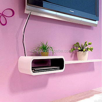 Wall shelf under tv white colors buy wall shelf wall for Etagere sous tv
