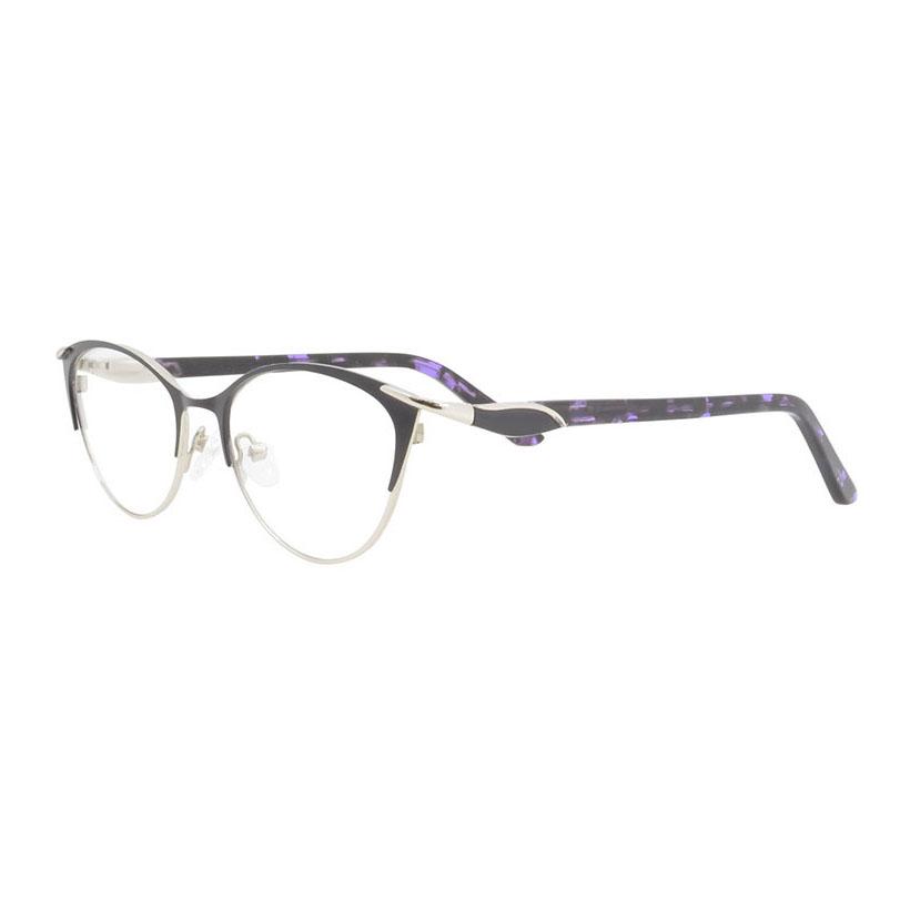 Beautiful Fashion Female Cat Eye Thin Metal Optical Glasses Frame ...
