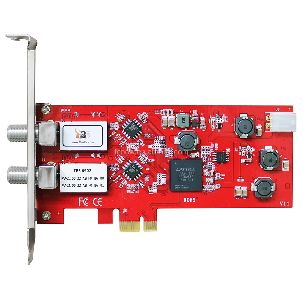 Hot Sell TBS6902 DVB-S2 Dual <strong>Tuner</strong> PCIe Card for <strong>HD</strong> and SD Digital <strong>Satellite</strong> <strong>TV</strong> Receiving on PC