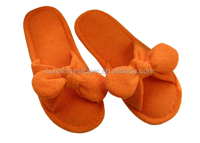 Open Toe Cotton Terry Slippers For Women Open Toe Cotton Terry