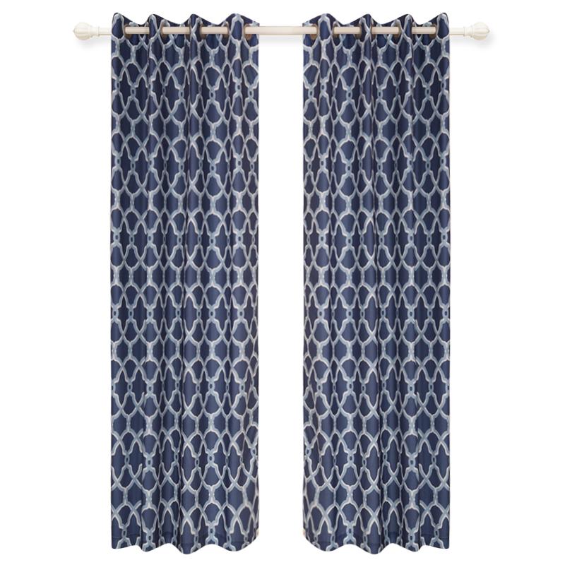 2018 custom made polyester moderne gedrukt gordijnen online