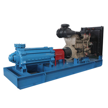 horizontal centrifugal diesel engine multistage high pressure water pump for water supply