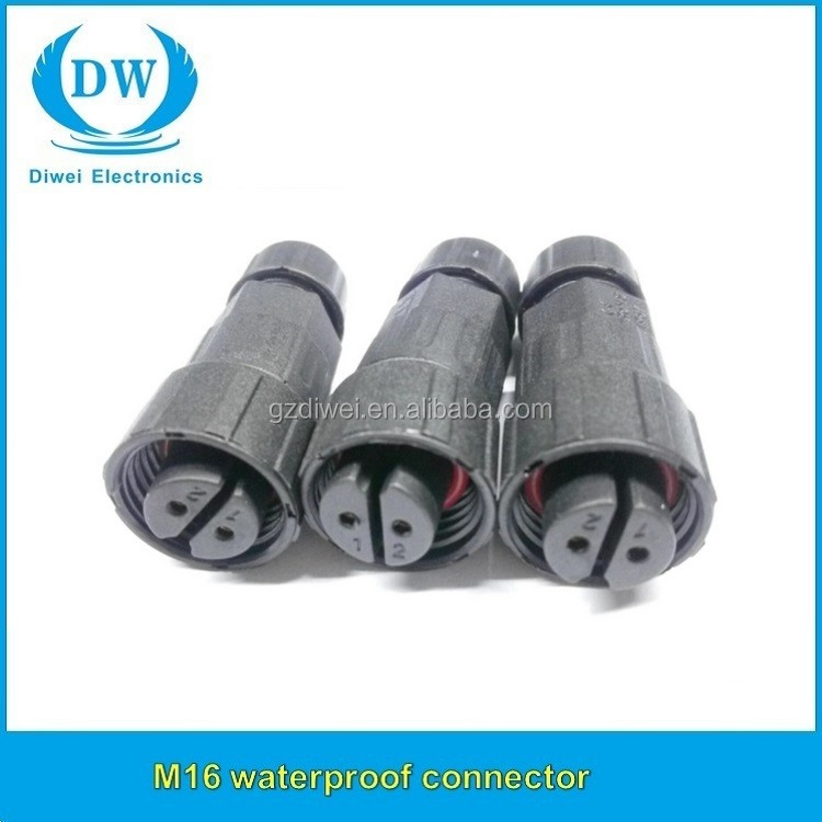 M16 2 Pin Männlich Weiblich Elektrischen Wasserdichten ...