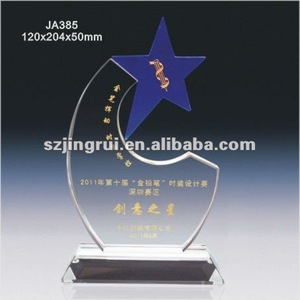 Different color k9 crystal rising star award trophy