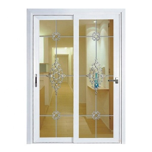 Safety double leaf sliding pvc doors best price