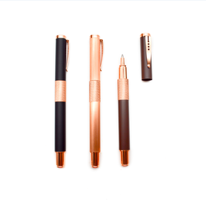 High quality premium gift engraved metal business elegant rose gold rollerball pen