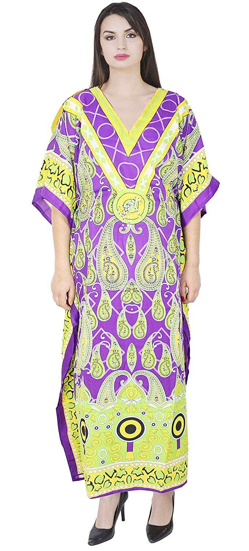 89c2284227 Get Quotations · SKAVIJ Maxi Length Caftan Kaftans for Women Dashiki Caftan  Nightgown Plus Size