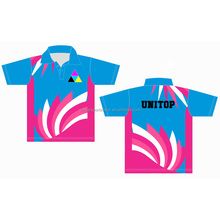 Custom sublimation 100% polyester polo t shirt printing thai quality ladies pink color womens polo shirt