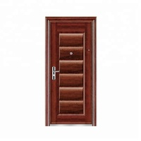 Security exterior single front steel door designs