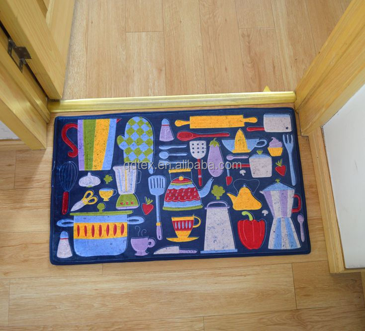 Fashion styles Printed bathroom memory foam rug