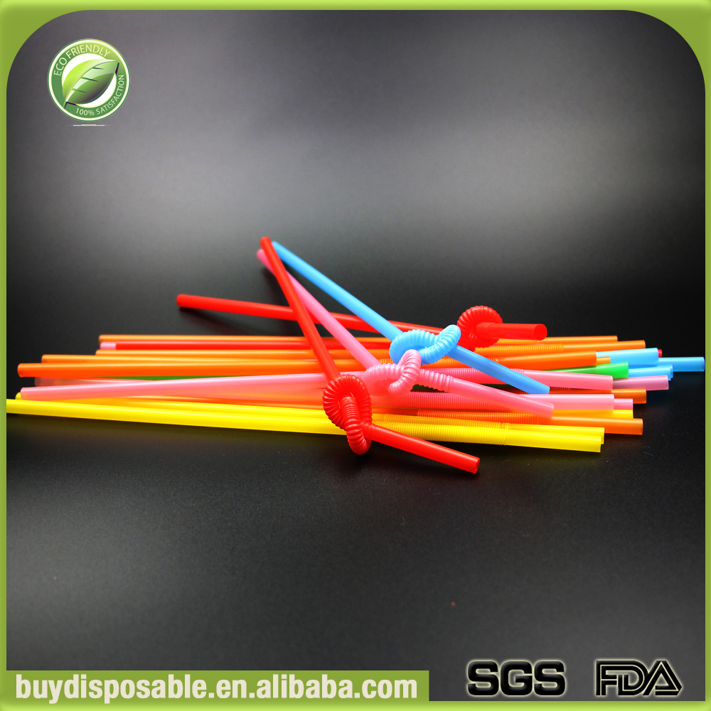 Popular disposable novelty printed straight PP plastic drinking PP straw