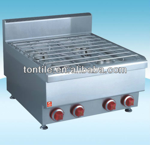 [Tontile] Counter Top Style 4 Burners Cooker Range With Stainless Steel Grate And Seamless Structure JUS-TR-4