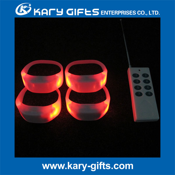 Festive & Party Supplies led wristband remote control glow bracelet for sale
