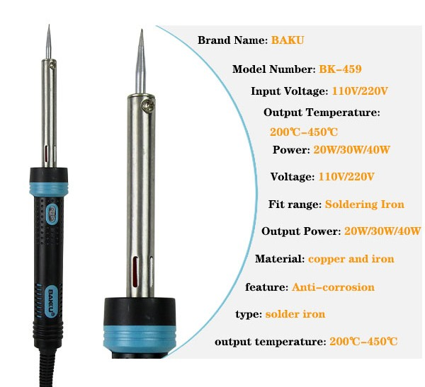 Hot selling BAKU BK-459 mobile phone ultrasonic electric goot soldering iron