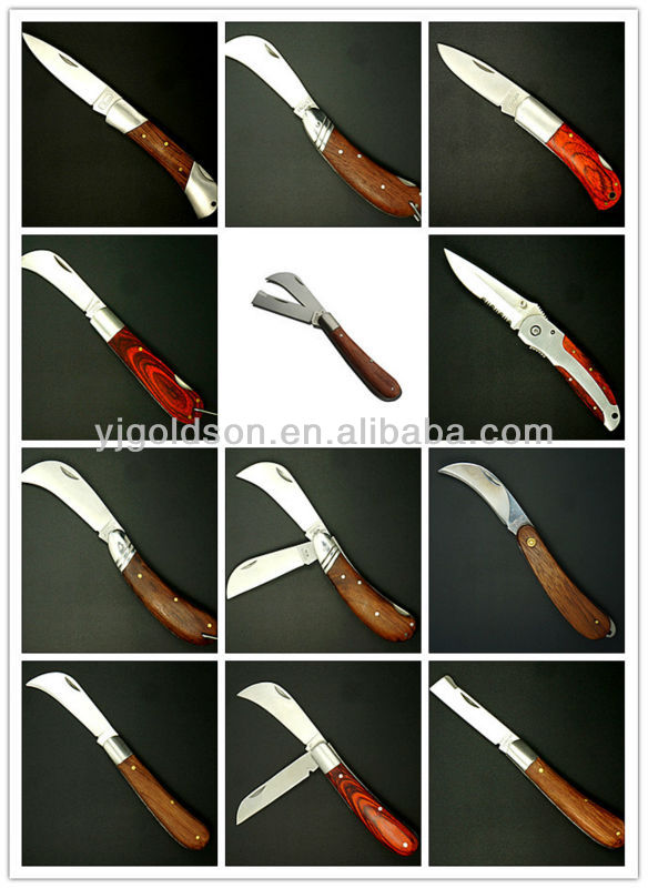 folding wood handle butter knife