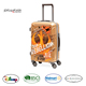Emboss Star new product Kids trolley school bag/ four spinner wheels travel suitcase/20 inch luggage with TSA lock