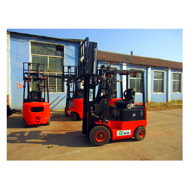 New Electric 1.5 Tonnes Fork Lift Machine with 3M Lift Height