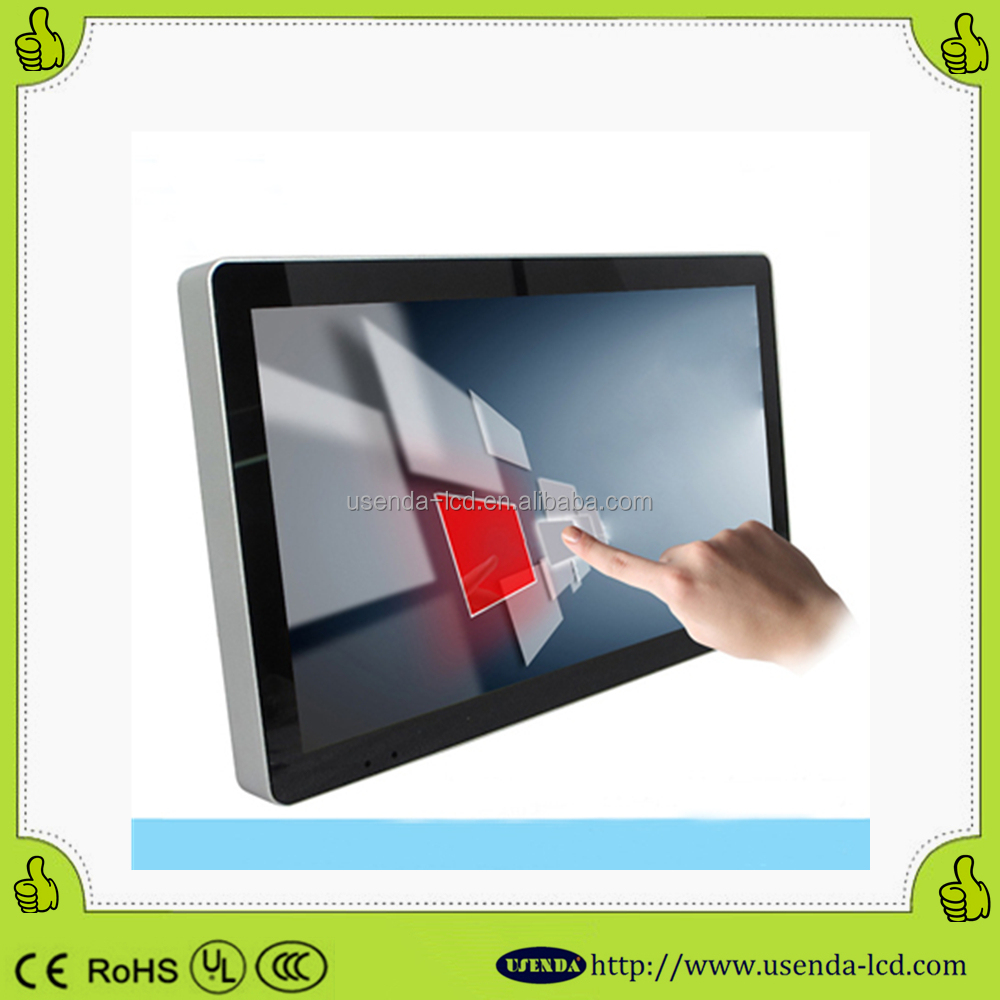 wall mounted style android 37inch indoor mall kiosk advertising lcd screen touch kiosk display