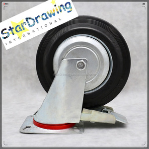 SS Cheap Price 200mm 8 inch garbage bin wheel caster castor Trash Can