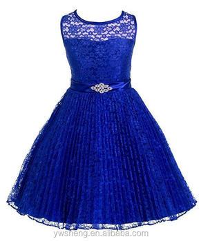 2018 Popular Designer Girl Lace Blue Tulle Dresssleeveless Blue Elegant Evening Dress With Bowknot Buy Elegant Lace Evening Dresses Longroyal Blue