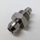 High precision CNC machined stainless steel male thread hexagon shaft