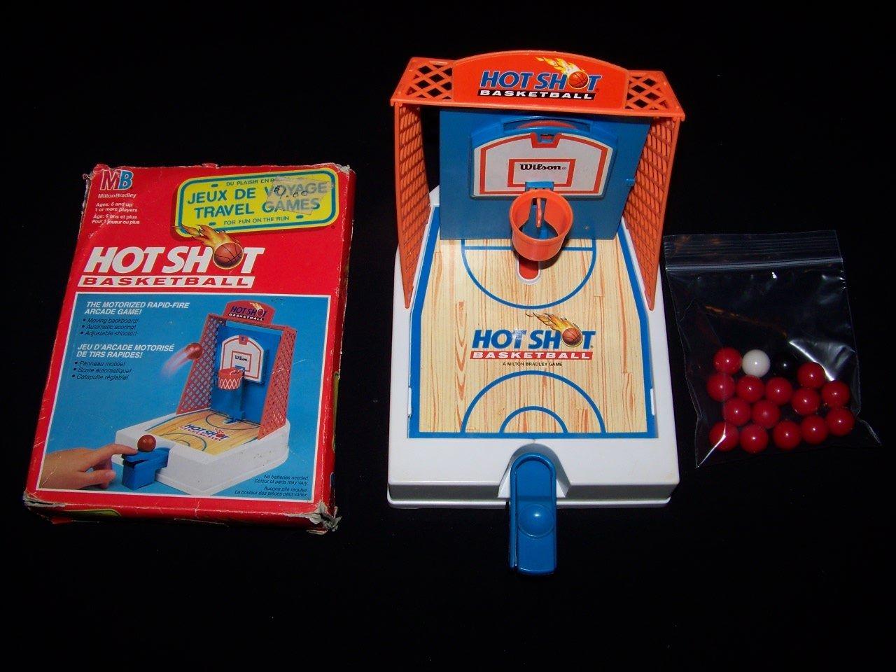 Hot Shot Basketball 1993 Motorized Travel Game By Milton Beadley